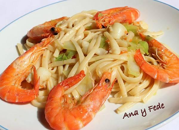 安娜和弗列德的廚房La Cocina de Ana y Fede_海鮮炒麵 Tallarines fritos con marisco