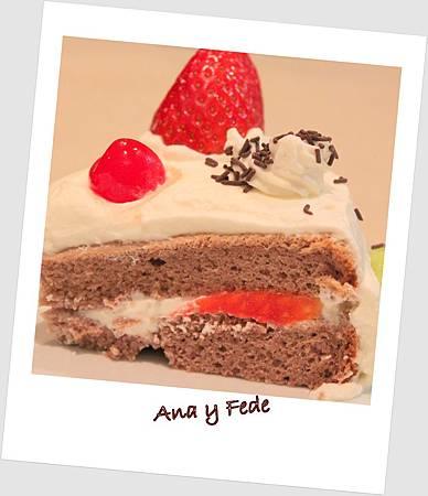 安娜和弗列德的廚房La Cocina de Ana y Fede_巧克力草莓蛋糕 Tarta de chocolate con fresa_3
