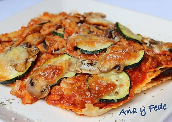 安娜和弗列德的廚房La Cocina de Ana y Fede_楖瓜千層麵 Lasaña con carne y verduras 1