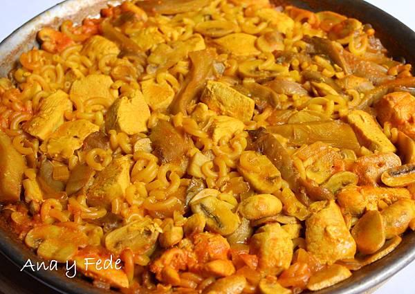 安娜和弗列德的廚房La Cocina de Ana y Fede_西班牙洋菇麵 Fideuá con setas