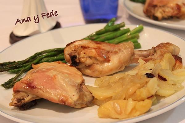 安娜和弗列德的廚房La Cocina de Ana y Fede_pollo con manzana al horno