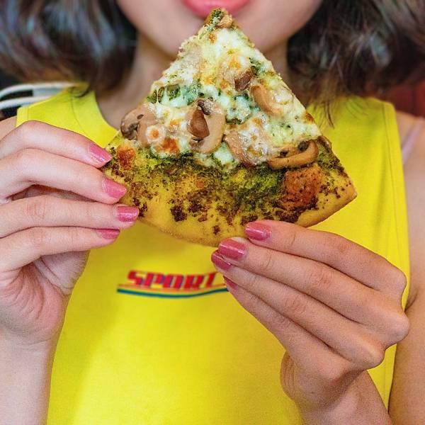 台北 大同區 中山站 承德路 Pizza La Bocca 義式手作披薩 超值午餐 吃到飽 青醬 鮮菇06.JPG