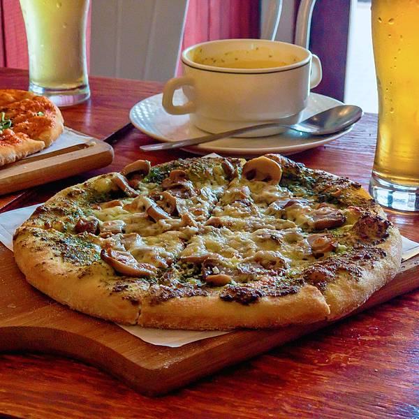 台北 大同區 中山站 承德路 Pizza La Bocca 義式手作披薩 超值午餐 吃到飽 青醬 鮮菇01.JPG