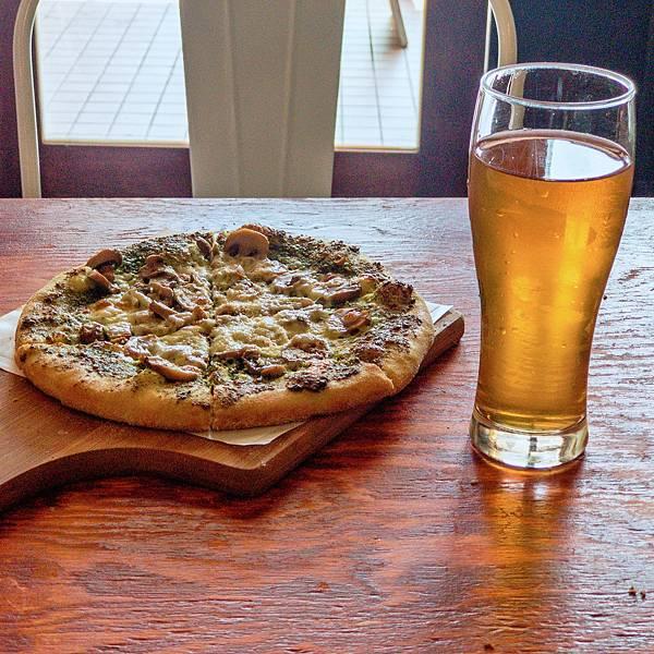 台北 大同區 中山站 承德路 Pizza La Bocca 義式手作披薩 超值午餐 吃到飽 青醬 鮮菇03.JPG
