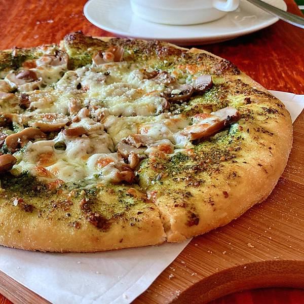 台北 大同區 中山站 承德路 Pizza La Bocca 義式手作披薩 超值午餐 吃到飽 青醬 鮮菇04.JPG