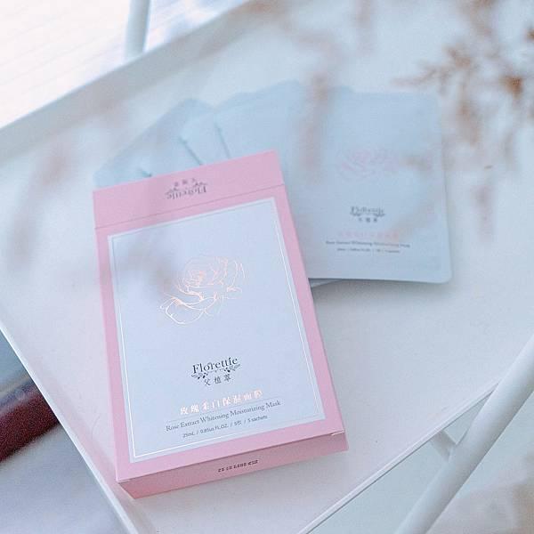美妝保養 父植萃Florettie 玫瑰柔白保濕面膜 2.JPG