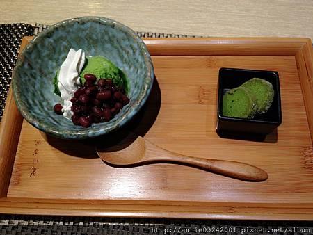 藍屋日本料理-紅豆抹茶冰淇淋