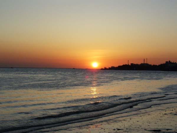 美麗的夕陽