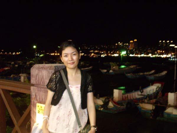 夜晚的淡水也很美