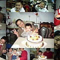 阿弟滿兩歲和舅舅的生日一起慶祝。