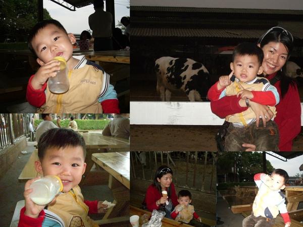 弟弟喝牛奶吃鮮奶饅頭~很神氣喔!
