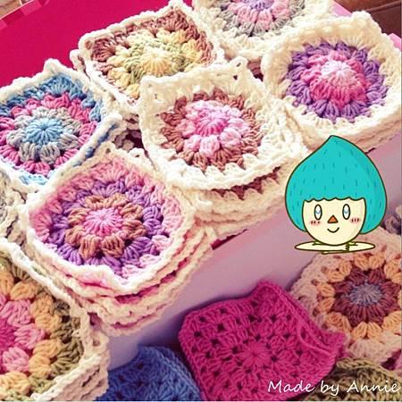 和菓子美麗諾羊毛編織毯