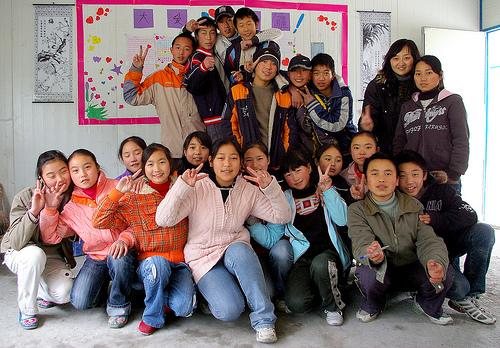 四川茂縣民族中學八年級三班