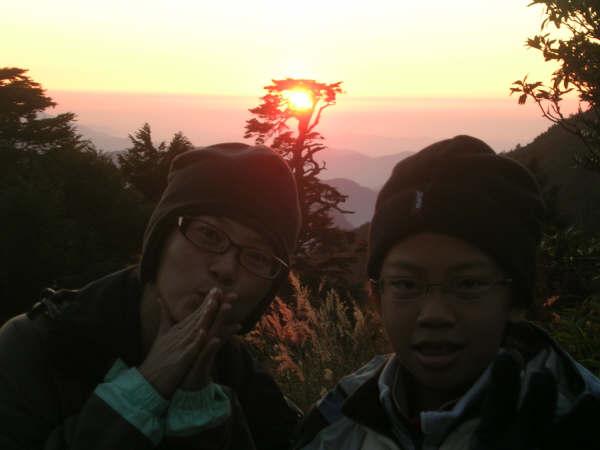 冷冷看夕陽~我和奕婕妹妹~
