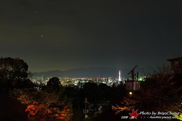 眺望京都市區
