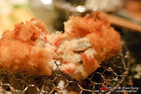 蟹肉可樂餅