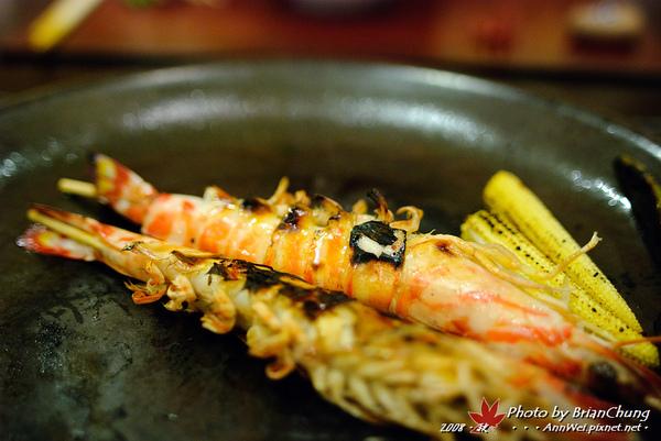 主菜 車海老の陶板焼