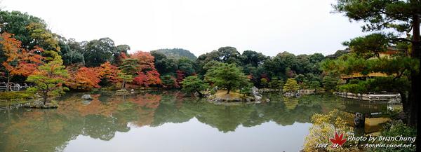 金閣寺-鏡湖池全景