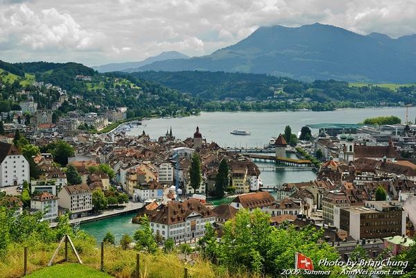 View of Luzern from Gütsch