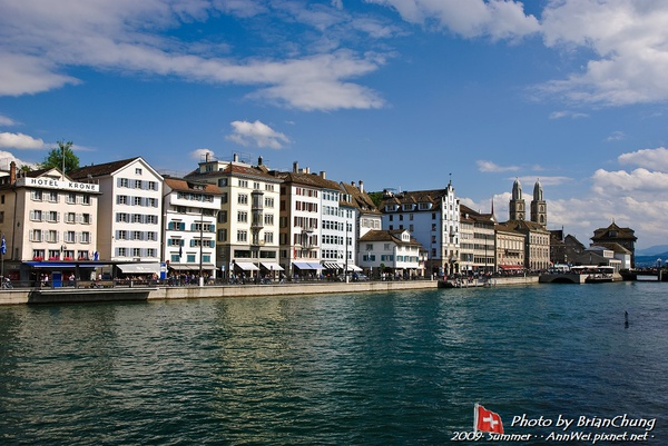 The Limmat in the old town of Zürich