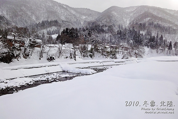 庄川雪景色