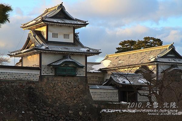 夕陽下的石川門