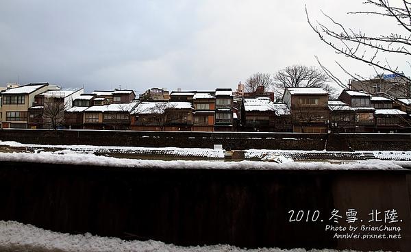 主計町茶屋街 雪景