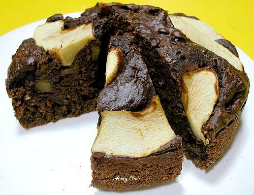 蘋果可可燕麥黑糖蛋糕
