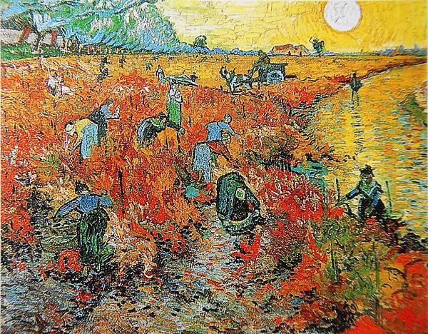 紅色葡萄園(1888 法國阿爾)