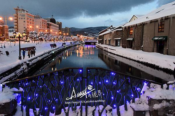 Otaru 北海道小樽 小樽運河夜景 小樽運河冬景