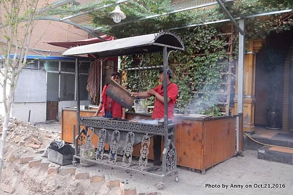 喀什古城烤羊肉串