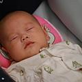 第一次在推車上睡著.JPG