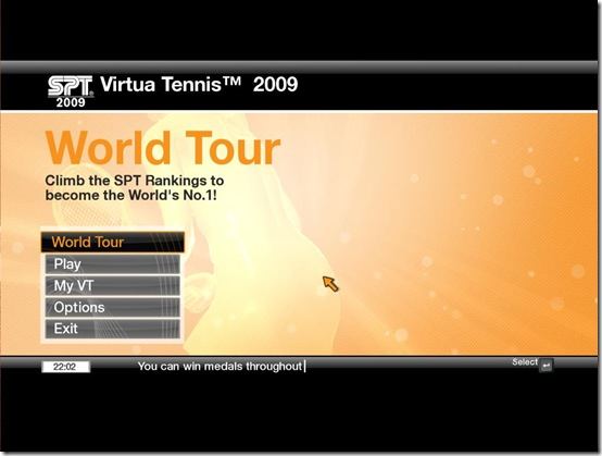 Virtua Tennis 2009 Main