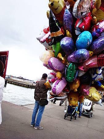 用氣球飄洋過海吧