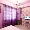 紫色浪漫雙人房