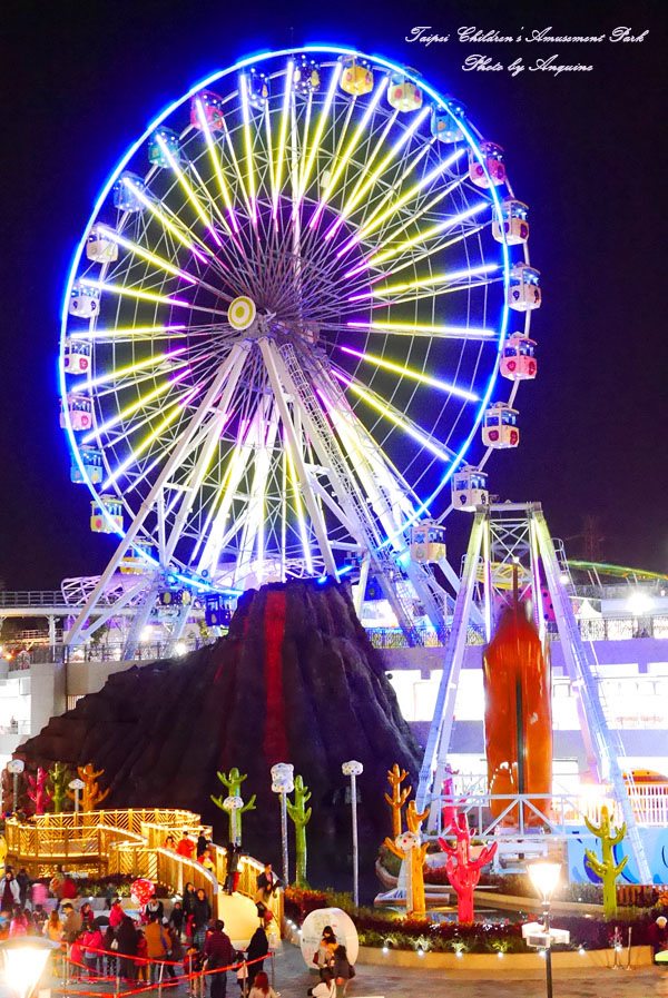 廖西瓜@台北市立兒童新樂園夜景13