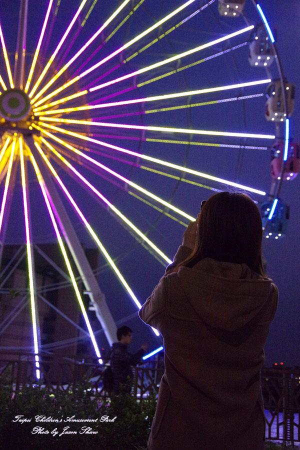 廖西瓜@台北市立兒童新樂園夜景5