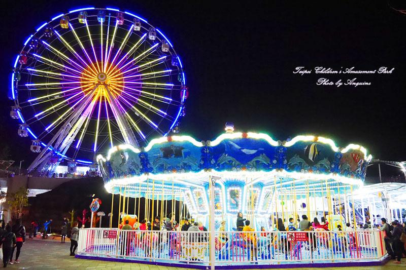 廖西瓜@台北市立兒童新樂園夜景35