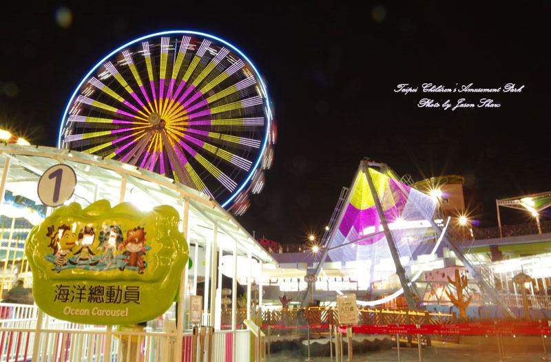 廖西瓜@台北市立兒童新樂園夜景40