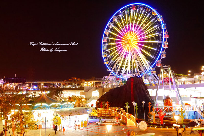 廖西瓜@台北市立兒童新樂園夜景42