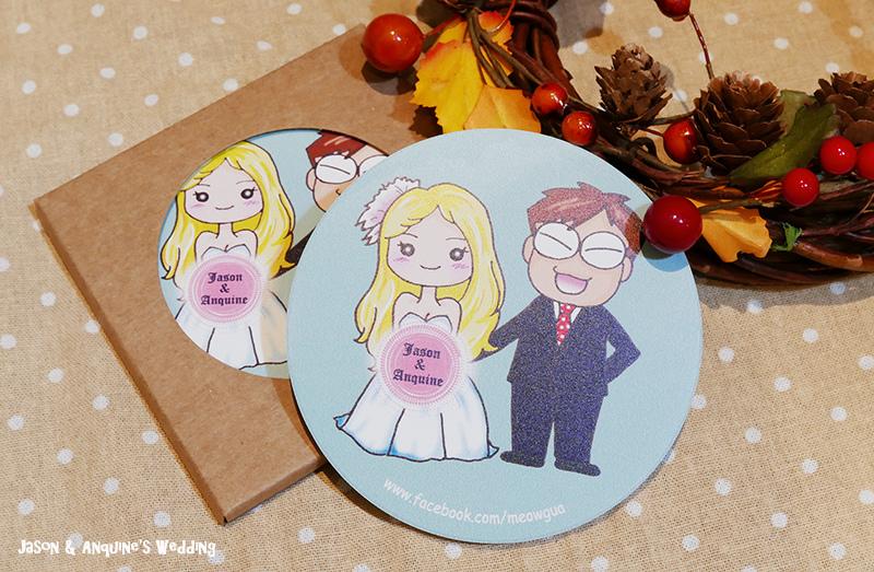 廖西瓜@婚禮婚紗手繪塗鴉之婚禮小物陶瓷吸水杯墊2.jpg