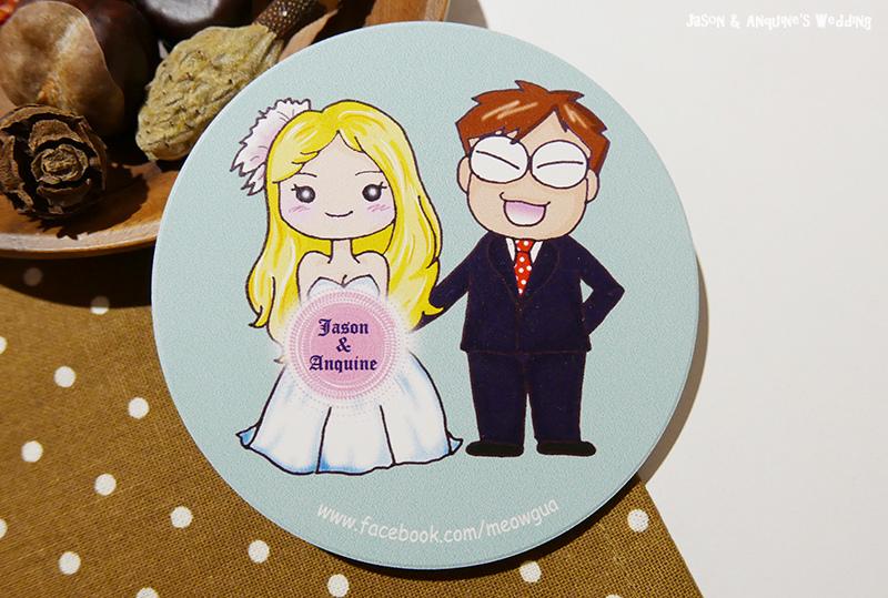 廖西瓜@婚禮婚紗手繪塗鴉之婚禮小物陶瓷吸水杯墊6.JPG