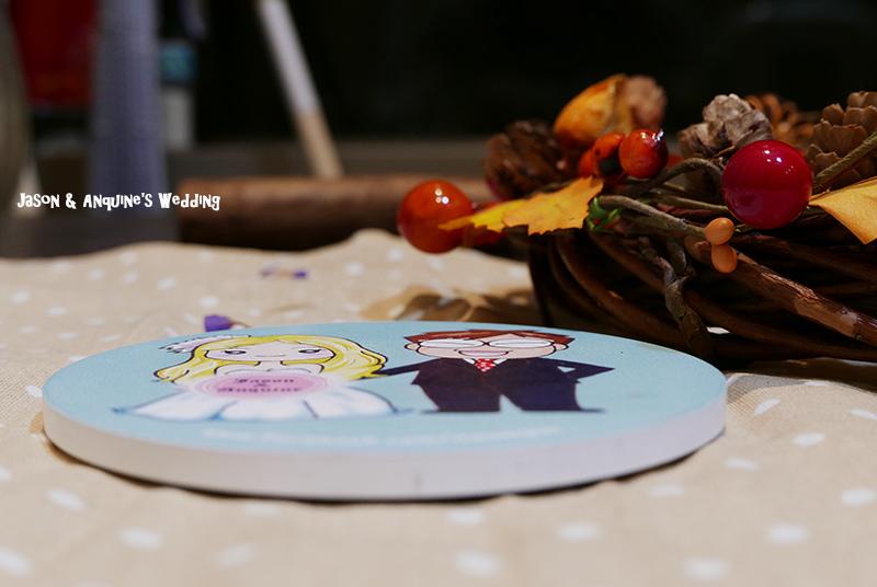 廖西瓜@婚禮婚紗手繪塗鴉之婚禮小物陶瓷吸水杯墊8.JPG