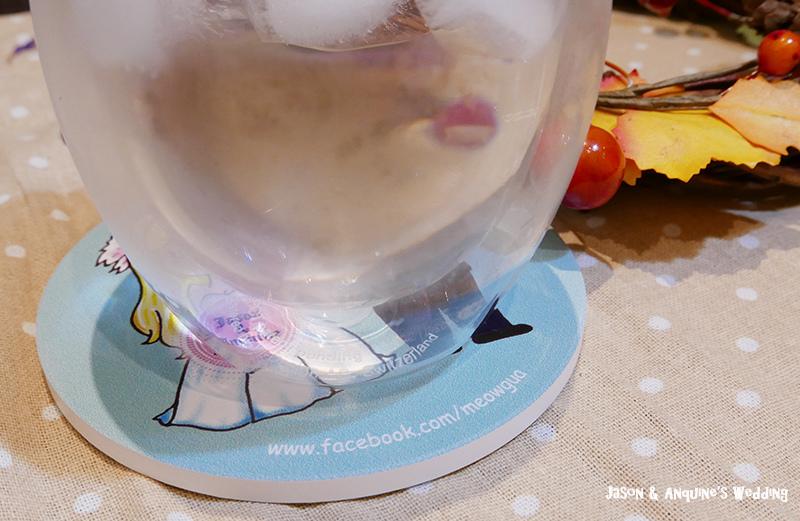 廖西瓜@婚禮婚紗手繪塗鴉之婚禮小物陶瓷吸水杯墊10.JPG