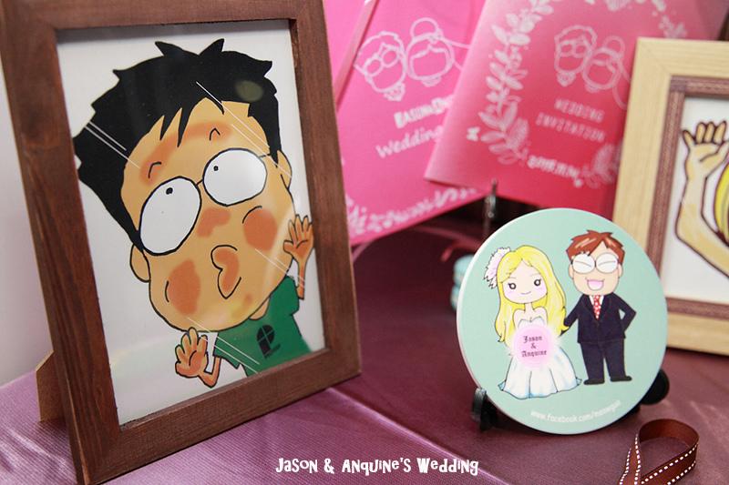 廖西瓜@婚禮婚紗手繪塗鴉之婚禮小物陶瓷吸水杯墊17.jpg