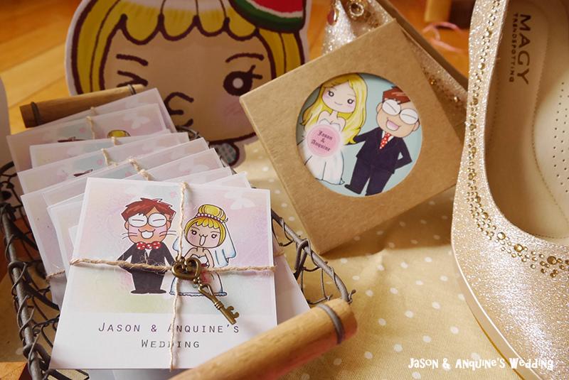 廖西瓜@婚禮婚紗手繪塗鴉之婚禮小物陶瓷吸水杯墊23.JPG
