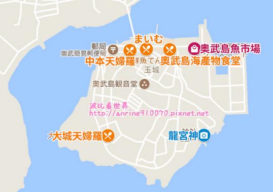 奧武島景點地圖