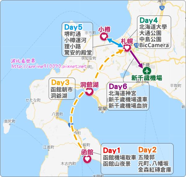 北海道行程規劃