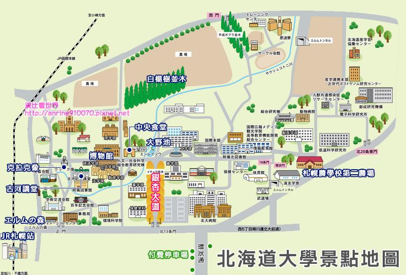 北海道大學地圖