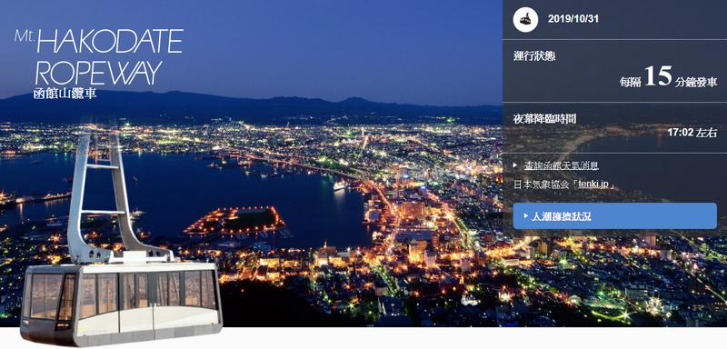 函館山纜車官網